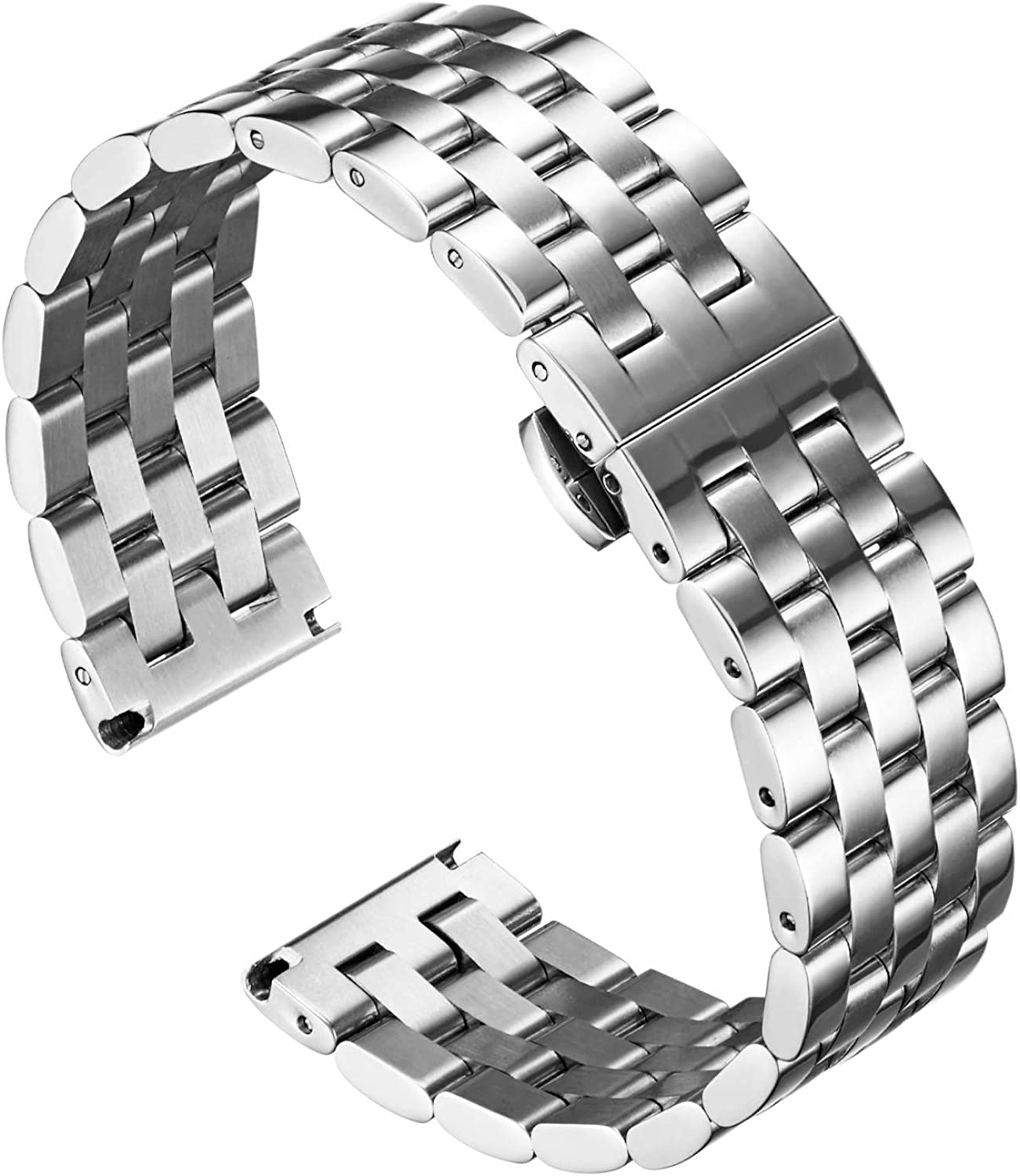 BINLUN Stainless Steel Watch New Free Shipping Bands - Minneapolis Mall End Straight with Curved