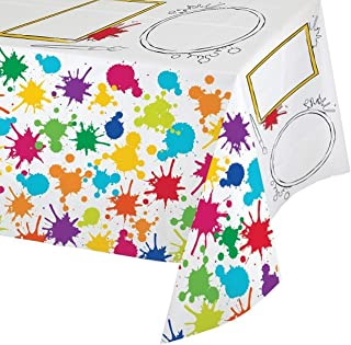 Creative Converting Art Party Activity Plastic Tablecover