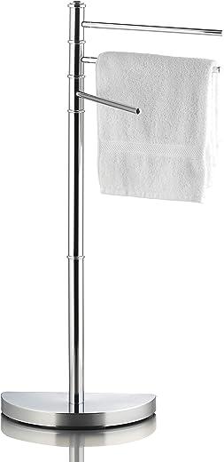 Ribelli Handtuchhalter für Hand- und Gästetücher – Handtuchständer mit 3 Stangen ca. 32,5 x 86 x 17,5 cm – Handtuchstange verchromt ideal fürs…
