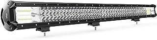 Nilight 18007C-A 1PC 37Inch Triple Row Lights 468W Flood Spot Combo 46800LM Bar Driving Boat Led Off Road Trucks,2 Years Warranty
