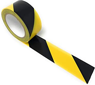 APT, (2'' Width X 36 Yds Length) PVC Marking Tape, Premium Vinyl Safety Marking and Dance Floor Splicing Tape, 6 mil Thick, (Multiple Color) (2'', Yellow/Black)