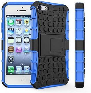JFLAI Case iPhone 5 5S Case Silicona Blanda Soporte de plástico Duro Soporte Capa Phone Coque 4.0