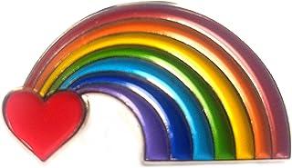 Spilla in metallo smaltato Love Heart Luv arcobaleno CND pace