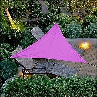 JHWSX Triangular Sun Shade Sail, Sun Shade Sail Triangle Canopy UV Block Awning for Outdoor Patio Lawn Garden Backyard Dec...