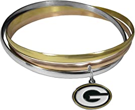Siskiyou NFL unisex-adult Tri-color Bangle Bracelet