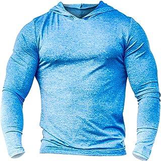 Alivebody Men's Bodybuilding Tapered Slim Fit Sweatshirts Active Hoodies