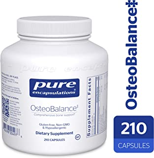 Pure Encapsulations - OsteoBalance - Hypoallergenic Supplement to Promote Calcium Absorption and Enhance Healthy Bone Mineralization* - 210 Capsules