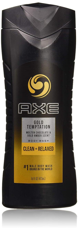 毎日メタリック滞在AXE ジェルゴールド誘惑シャワー、16オズ(4パック) 4パック