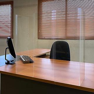 comprar comparacion Mampara Protector Mostrador Metacrilato 71,7 x 65,8 cm, Pantalla Flexible, Adaptable y Portátil
