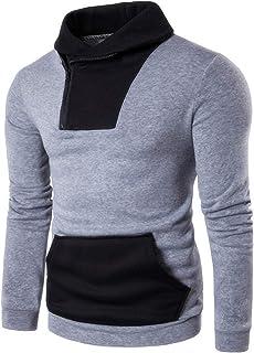 VANVENE Mens Zipper Pullover Fleece Sweatshirts Long Sleeve Crew Neck Jumper M-2XL