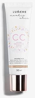 Lumene CC Color Correcting Cream Medium infused with Pure Arctic Spring Water - 6 in 1 Medium Coverage for all Skin Types SPF 20-30 ml / 1.0 Fl.Oz.
