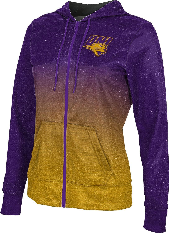 University of Northern Iowa Girls' Zipper Hoodie, School Spirit Sweatshirt (Ombre)
