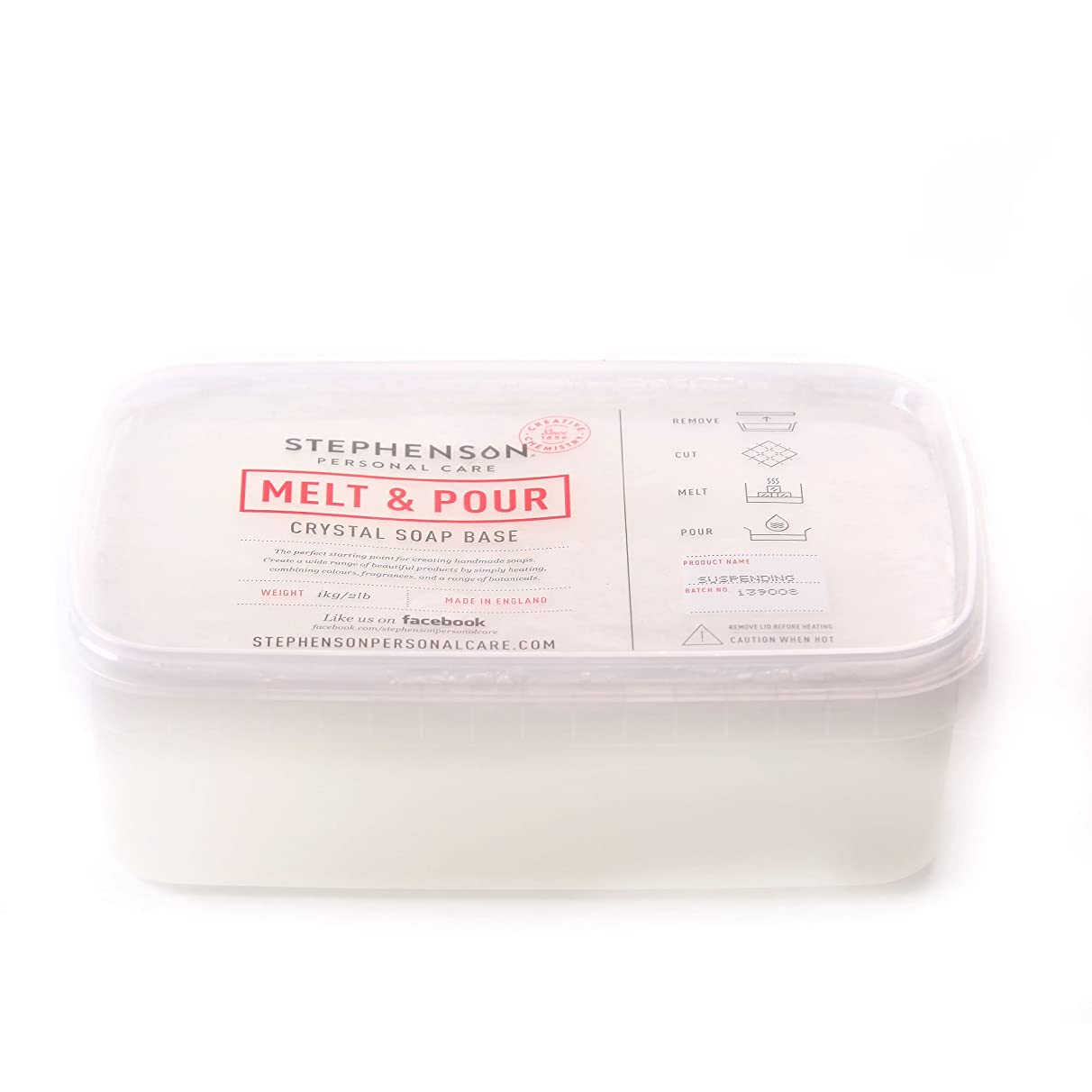 ボトルネック同化父方のMelt and Pour Soap Base Suspension - 1Kg