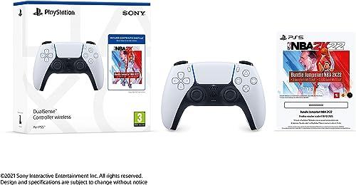 Sony PlayStation®5 - DualSense™ Wireless Controller ™ + NBA 2K22 Jumpstart Bundle [Esclusiva Amazon]