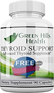 Thyroid Support Supplement Boost Metabolism for Weight Loss and Energy, Improve Focus, Vegan Friendly. High Potency Vitamins, Minerals and Herbs for underactive Thyroid. Best Thyroid Support Complex
