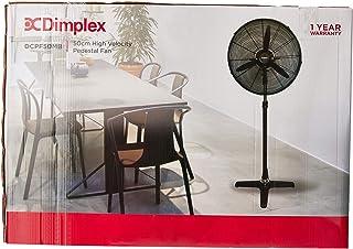 Dimplex DCPF50MB High Velocity Pedestal Fan, Matte Black