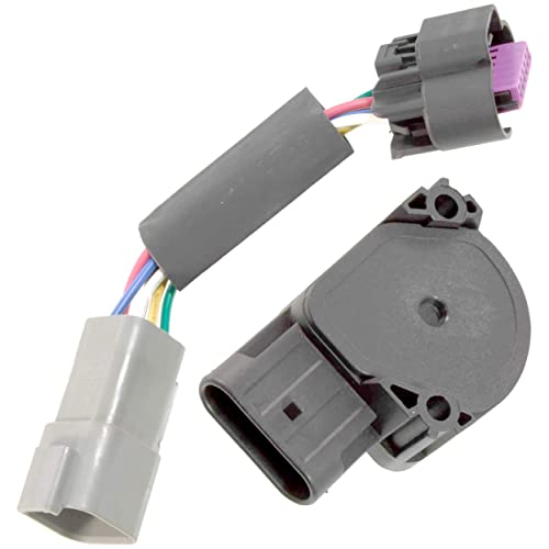 APDTY 112792 TPS APPS Throttle Position Accelerator Pedal Position Sensor w/Wiring Harness Adapter Connector