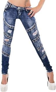 Original Pantalones Vaqueros Ajustados para Mujer de Corte bajo, Tallas 6, 8, 10, 12, 14 UK - 34, 36, 38, 40, 42 EU