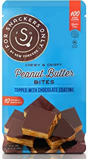 For Snackers Only Peanut Butter Bites Topped with Chocolate Coating - Non Dairy Kosher Pareve - Gluten Free - Vegan Friend...