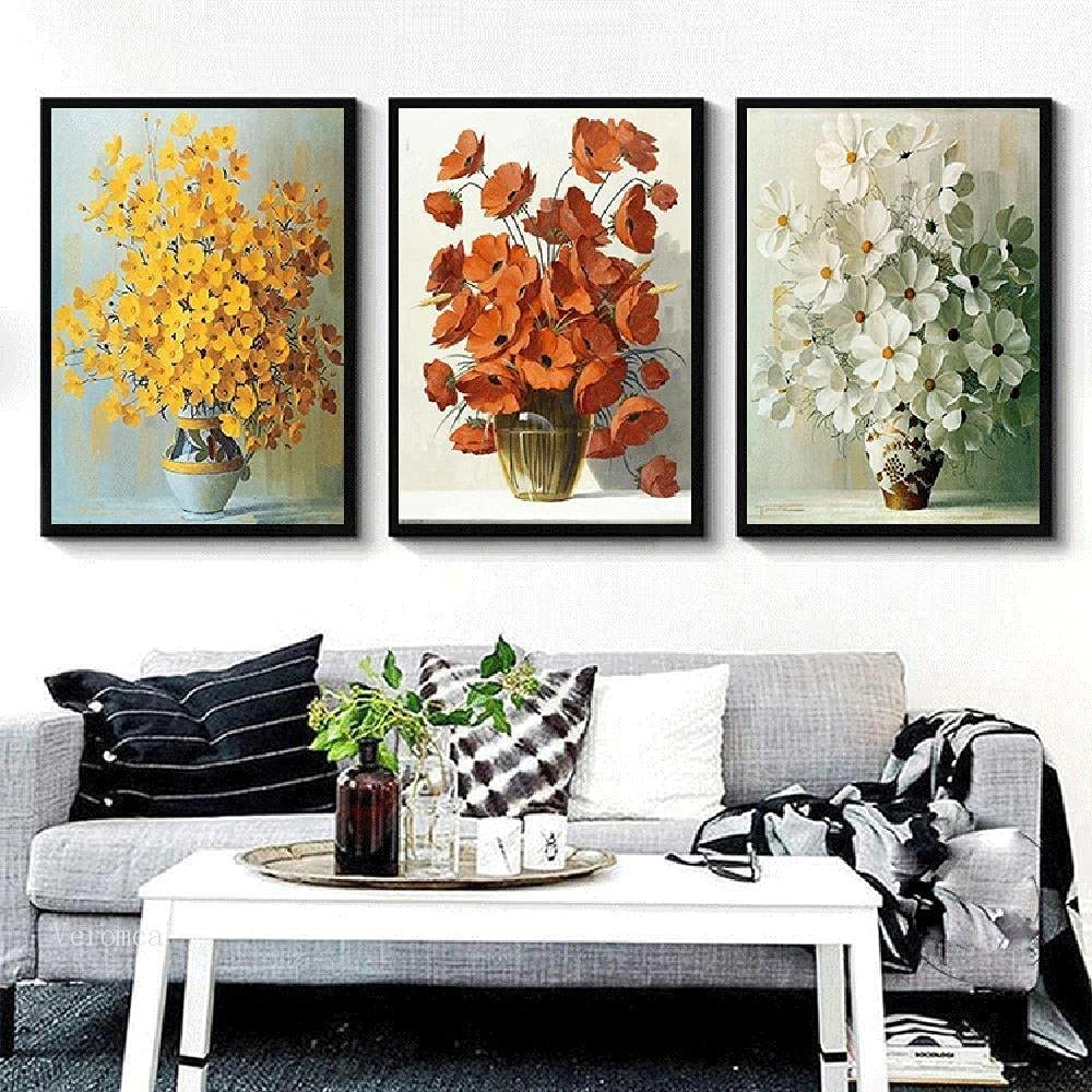 Canvas painting 3 Pcs El Paso Mall Delicate Vase Beauty products On Flower Oil W The Painting