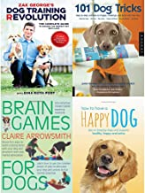 Dog training revolution, 101 dog tricks, brain games for dogs and how to have a happy dog 4 books collection set