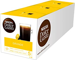 Nescafé Dolce Gusto美式咖啡 | 48 咖啡胶囊 | 纯阿拉比卡咖啡豆 | 精细的泡沫和浓郁的香气 | 快速准备 | 气味密封胶囊 | 3盒 (3 x 16 胶囊)