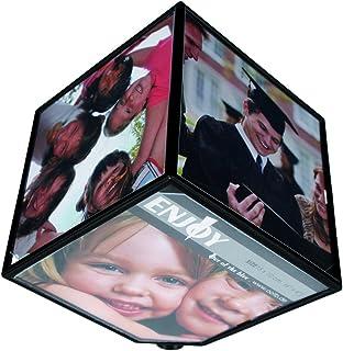 Out of the blue Cube tournant pour 6 Photos, pour 1 Pile Mignon (AA), env. 11 x 11 cm