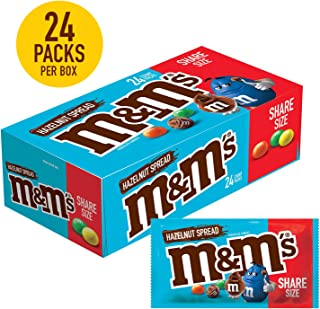 M&M'S Hazelnut Spread Chocolate Candy, Sharing Size, 2.53-Ounce, 24-Count