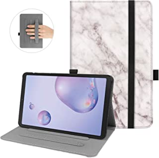 KuRoKo Galaxy Tab A 8.4 2020 Book Folio Case, Multi-Viewing Angels Stand Case with Handstrap for Samsung Galaxy Tab A 8.4 ...