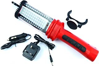 Hyfive LED Worklight with 78 Ultra Bright LED's Rechargeable Torch with Cordless Design and Magnet Clamp and Hanging Hooks...