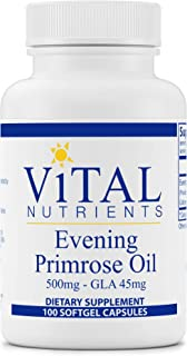 Vital Nutrients - Evening Primrose Oil 500 mg - Cold-Pressed Oil That Contains GLA, an Essential Omega-6 Fatty Acid - 100 ...