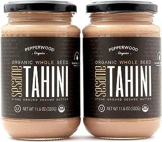 comprar comparacion Tahini Integral Orgánico Molido con Piedra, Sin Cáscara, Sin Sal, Sin OGM, Sin Gluten, Kosher, Vegano, Orgánico, Sin Cacah...