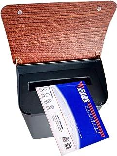 郵便受け・メールボックス ボタンロック付きミニメールボックスウォールマウント、 ホームオフィスとポーチの外にある和風の住宅用レターボックス、 小さなパッケージのドロップボックス