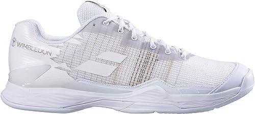 Babolat Hommes Jet Mach I Clay Chaussures De Tennis Chaussure Terre Battue Blanc - gris Clair 47