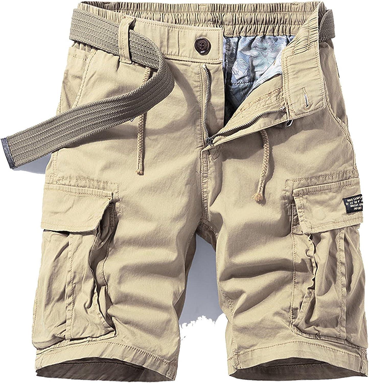 Zhang Q Spring Men Cotton Cargo Shorts Clothing Summer Casual Breeches Bermuda Fashion Beach Pants Los Cortos Short-Khkai1-28