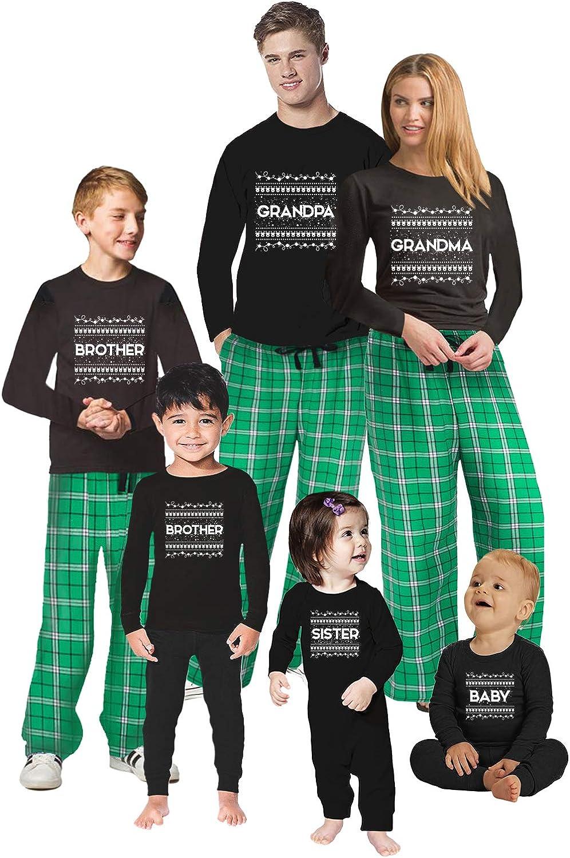 Awkward Styles Christmas Pajamas for Family Xmas Pattern Grandma Grandpa Matching Christmas Sleepwear