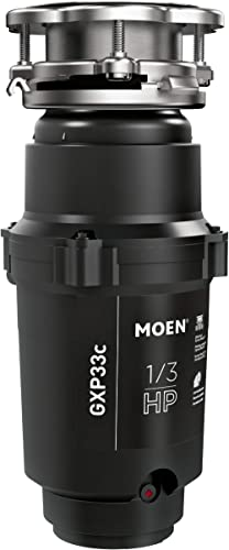 Moen GXP33C Lite Series PRO 1/3 HP Continuous Feed Garbage Disposal, Power Cord Included