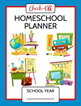 Check-Off Homeschool Lesson Planner 200 Days: Lesson Plans, Worksheets, Curriculum,..