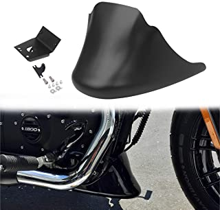 AQIMY Motorcycle Front Chin Spoiler Air Dam Fairing Cover with Mounting Bracket for Harley Sportster XL 883 1200 2004-2014