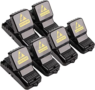 Utoptech Mouse Trap, Reusable Trap for Mouse Control Quick Effective Indoor Outdoor Mice Catcher Kitchen Garden Farm Bedroom Rat Traps, Pack of 6