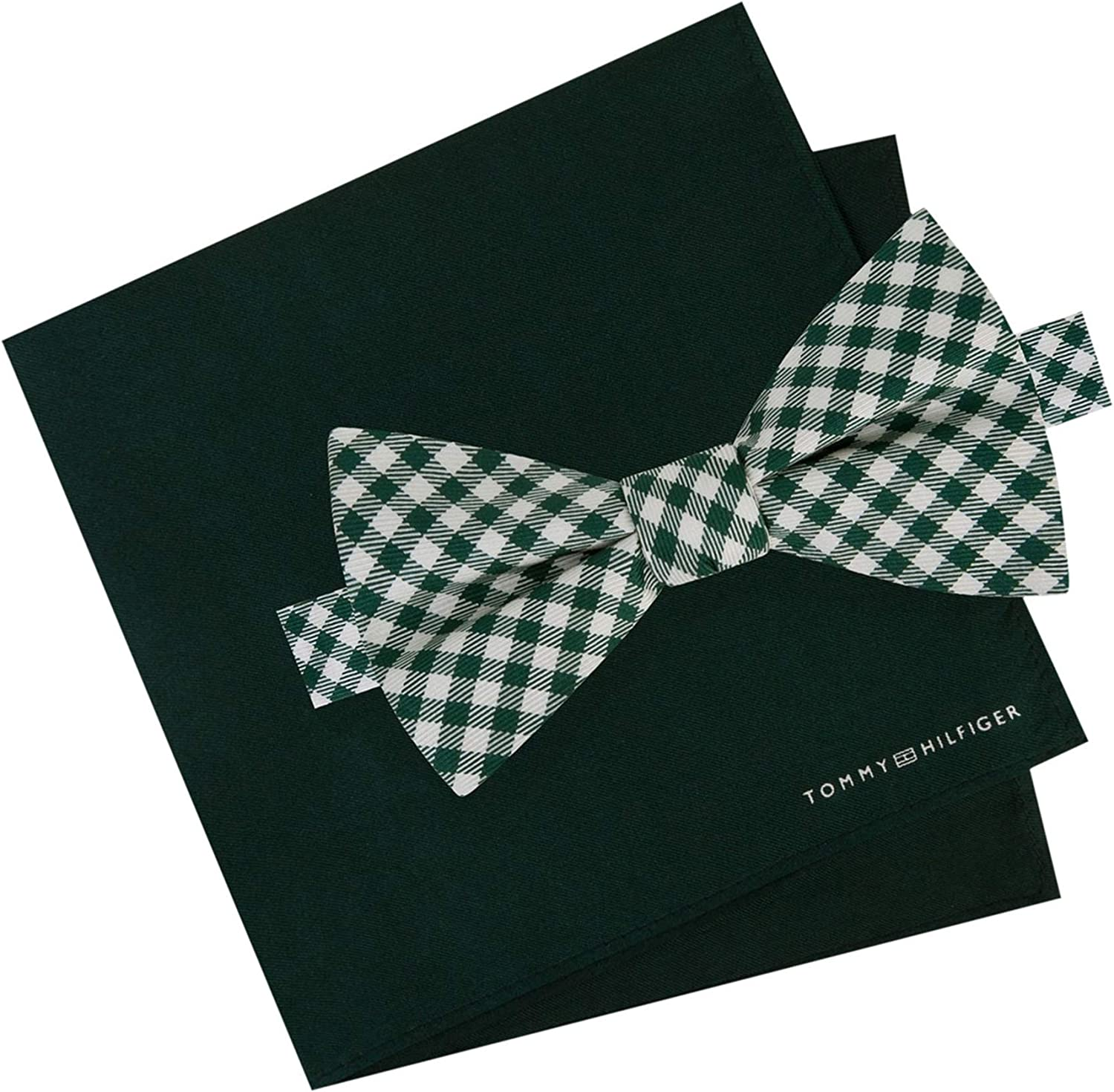 Tommy Hilfiger Mens Gingham Self-Tied Bow Tie