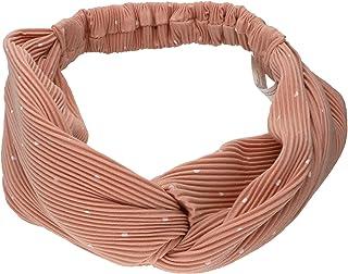 SIX - Fascia per capelli alla moda con design a costine e pois bianchi (456-784)