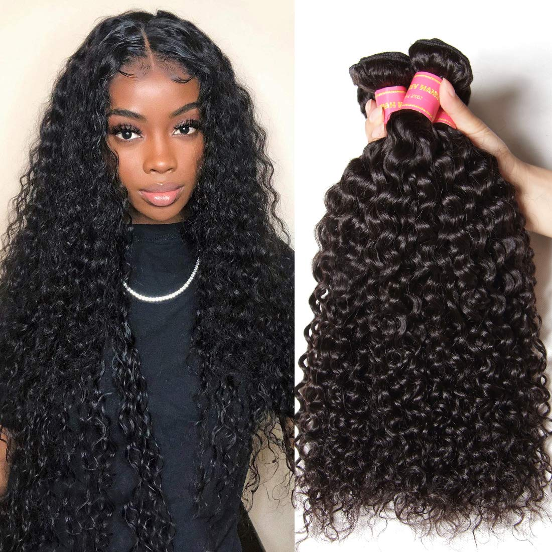 Nadula Hair Young Series 7A Curly Brazilian Bundles Mail order cheap Weave Mail order 3
