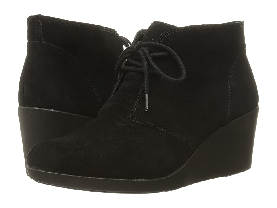 Crocs Leigh Suede Wedge Shootie (Black) Women