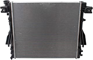 Brock Radiator Assembly Replacement for 07-17 Jeep Wrangler 3.6L 3.8L 18 Wrangler JK & JK Unlimited w/Automatic or Manual Transmission repairs 68143886AA CH3010343 CU2957