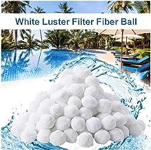 Dysel Bolas de Filtro de Fibra Piscina Depuradora Acuáticos Filter Balls Reutilizables Limpiador, Bombas Accesorios Alta Capacidad de Filtración No Tóxico500g