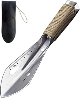 REDCAMP Multitool Hand Hiking Shovel for Camping, Small Lightweight Backpacking Trowel with Carrying Bag, 0.55lbs, Silver/Black