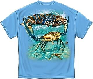 Fishing T-Shirt Wicked Fish Crab and Star Fish Carolina Blue