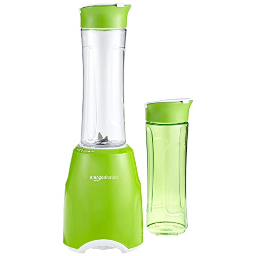 AmazonBasics Blender à Smoothie Mix & Go, 300 W, sans BPA - Vert