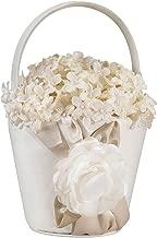 Lillian Rose Taupe Rose Flower Basket